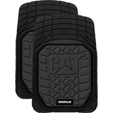 Caterpillar Car Floor Mats - Rubber, Black, Front Pair, , scaau_hi-res