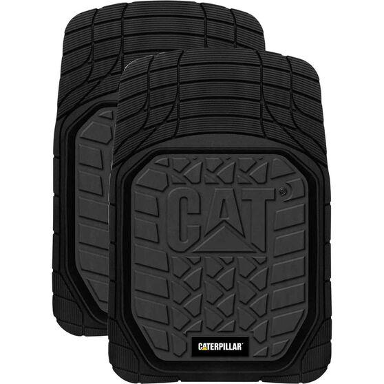 Caterpillar Car Floor Mats Rubber Black Front Pair, , scaau_hi-res