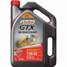Castrol GTX ULTRACLEAN Engine Oil 15W-40 5 Litre, , scaau_hi-res