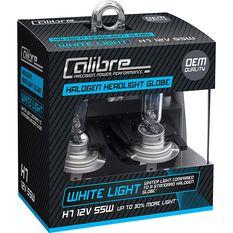 Calibre Headlight Globes - H7, 12V, 55W, White Light, , scaau_hi-res