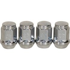 Wheel Nuts, Tapered, Chrome - 12X1.5MM, , scaau_hi-res