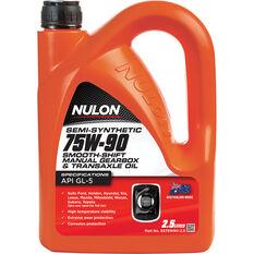 Nulon Gear Oil 75W-90 Semi Synthetic 2.5 Litre, , scaau_hi-res