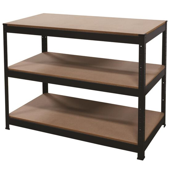 3 Shelf Workbench - Powder Coated, 1150mm, 250kg, , scaau_hi-res