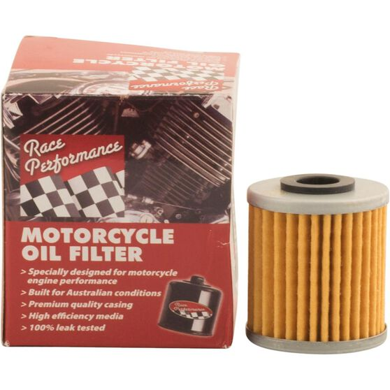 Race Performance Motorcycle Oil Filter - RP138, , scaau_hi-res