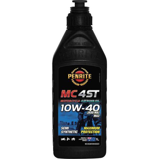Penrite MC-4ST Semi Synthetic Motorcycle Oil 10W-40 1 Litre, , scaau_hi-res