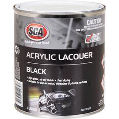 SCA Acrylic Paint - Black, 2 Litre, , scaau_hi-res