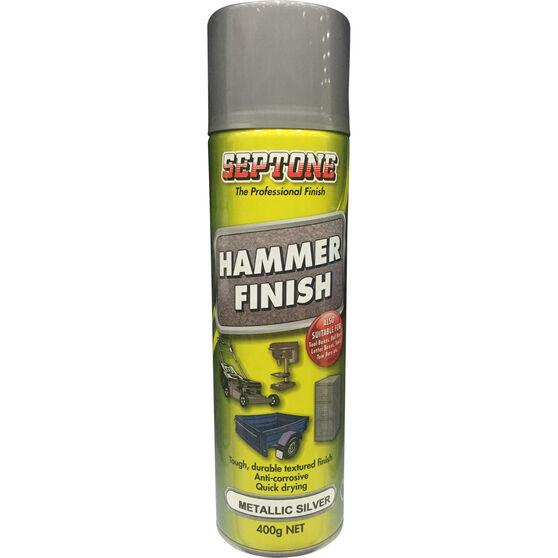 Septone Hammer Finish Paint Metallic Silver 400g, , scaau_hi-res