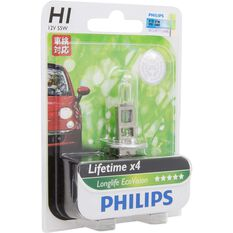 Philips LongLife EcoVision Headlight Globe  - 12V, H1, 55W, , scaau_hi-res