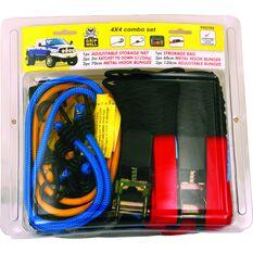 Tie Down & Bungee Combo 4WD Kit - 10 Pack, , scaau_hi-res