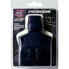 Trailer Plug - 9 Pin, Plus 50Amp, Plastic, Flat, , scaau_hi-res
