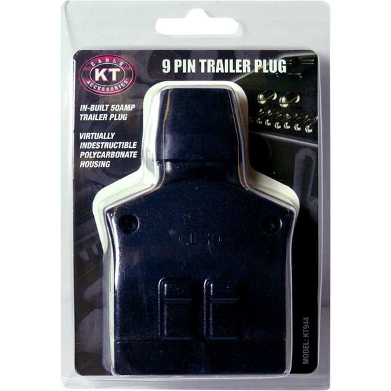 KT Cable Trailer Plug, Plastic - Flat, Plus 50 AMP, 9 Pin, , scaau_hi-res