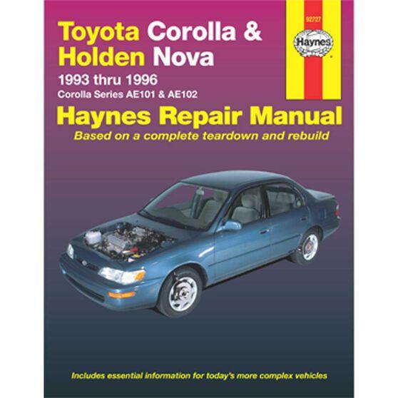 Haynes Car Manual For  Toyota Corolla 1993-1996 - 92727, , scaau_hi-res