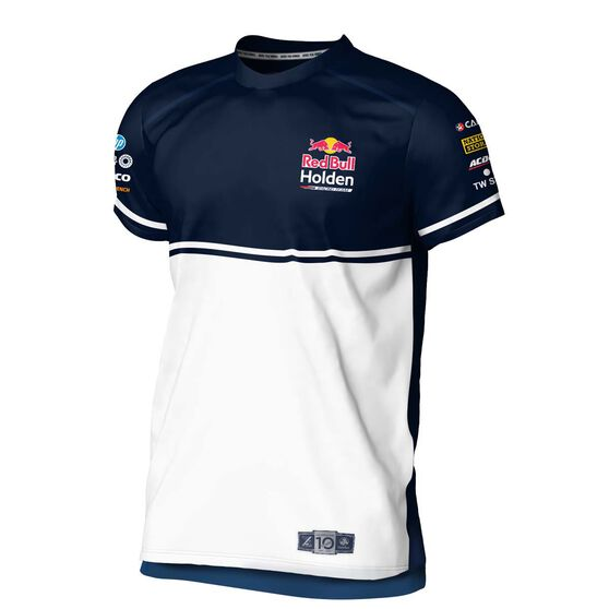 RedBull Holden Racing Team Youth 2020 T-Shirt, White / Navy, scaau_hi-res