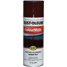 Rust-Oleum Aerosol Paint - Colourmate, Manor Red 312g, , scaau_hi-res