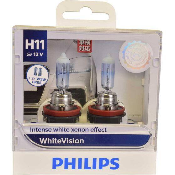 Philips WhiteVision Headlight Globe - 55W, H11, , scaau_hi-res
