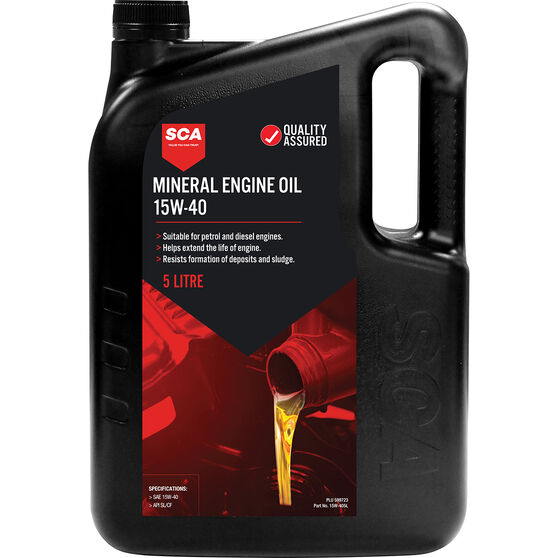 SCA Mineral Engine Oil 15W-40 5 Litre, , scaau_hi-res
