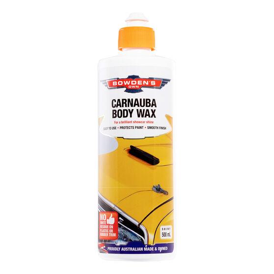 Bowden's Own Carnauba Body Liquid Wax 500mL, , scaau_hi-res