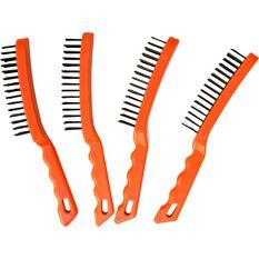 Wire Brush 5 Row Plastic Handle, , scaau_hi-res