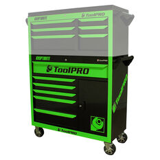 ToolPro Neon Tool Cabinet, 6 Drawer, Roller Cabinet - Kryptonite, 42 inch, , scaau_hi-res