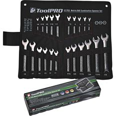 ToolPRO Spanner Set - Combination, 22 Piece, Metric and Imperial, , scaau_hi-res