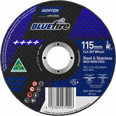Norton Metal Cut off Disc 115mm x 1.0mm x 22mm, , scaau_hi-res
