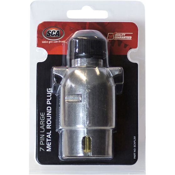 SCA Trailer Plug, Metal - Large Round, 7 Pin, , scaau_hi-res