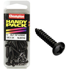 Champion Self Tapping Screws - 10G X 3 / 4inch, BH740, Handy Pack, , scaau_hi-res