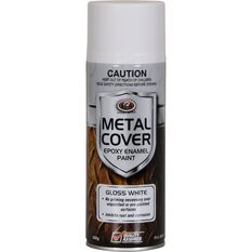 SCA Metal Cover Enamel Rust Paint - Gloss White, 300g, , scaau_hi-res