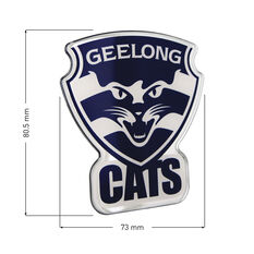 Geelong AFL Supporter Logo - Lensed Chrome Finish, , scaau_hi-res