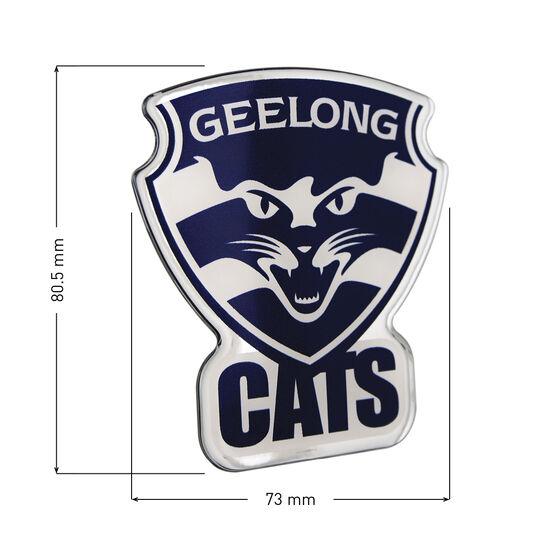 Geelong AFL Supporter Logo - Lensed Chrome Finish, , scaau_hi-res