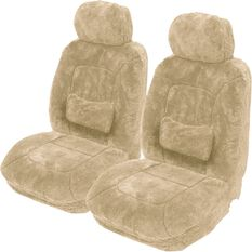 Platinum Cloud Sheepskin Seat Covers - Adjustable Headrests, Size 30, Front Pair, Airbag Compatible Bamboo, Bamboo, scaau_hi-res