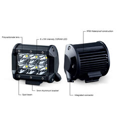 Ridge Ryder 100mm LED Driving Lights 25W with harness, , scaau_hi-res