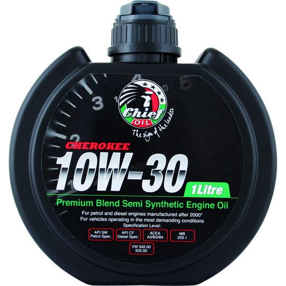 Chief Cherokee Engine Oil - 10W-30 1 Litre, , scaau_hi-res
