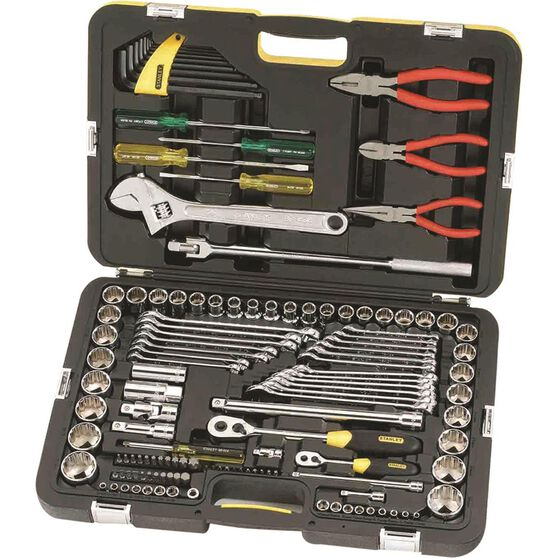 Stanley Tool Kit with Pliers - 132 Piece, , scaau_hi-res