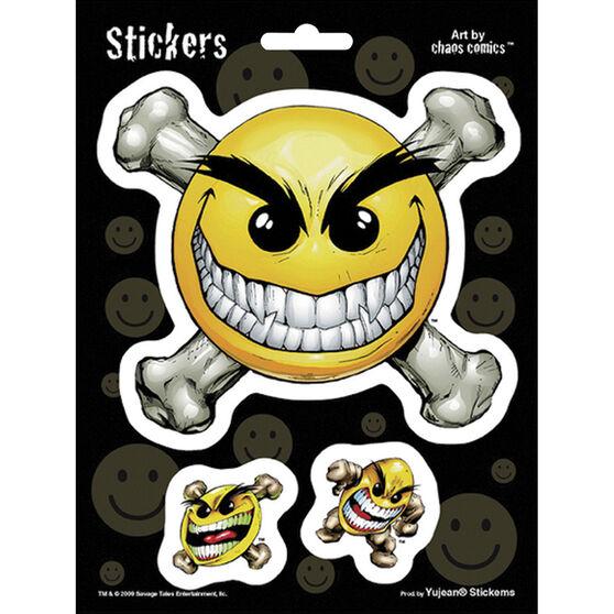 Hot Stuff Sticker - Chaos Smile Face, Vinyl, , scaau_hi-res