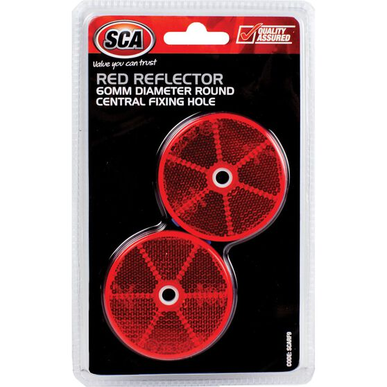 SCA Reflector - Red, 60mm, Round, 2 Pack, , scaau_hi-res