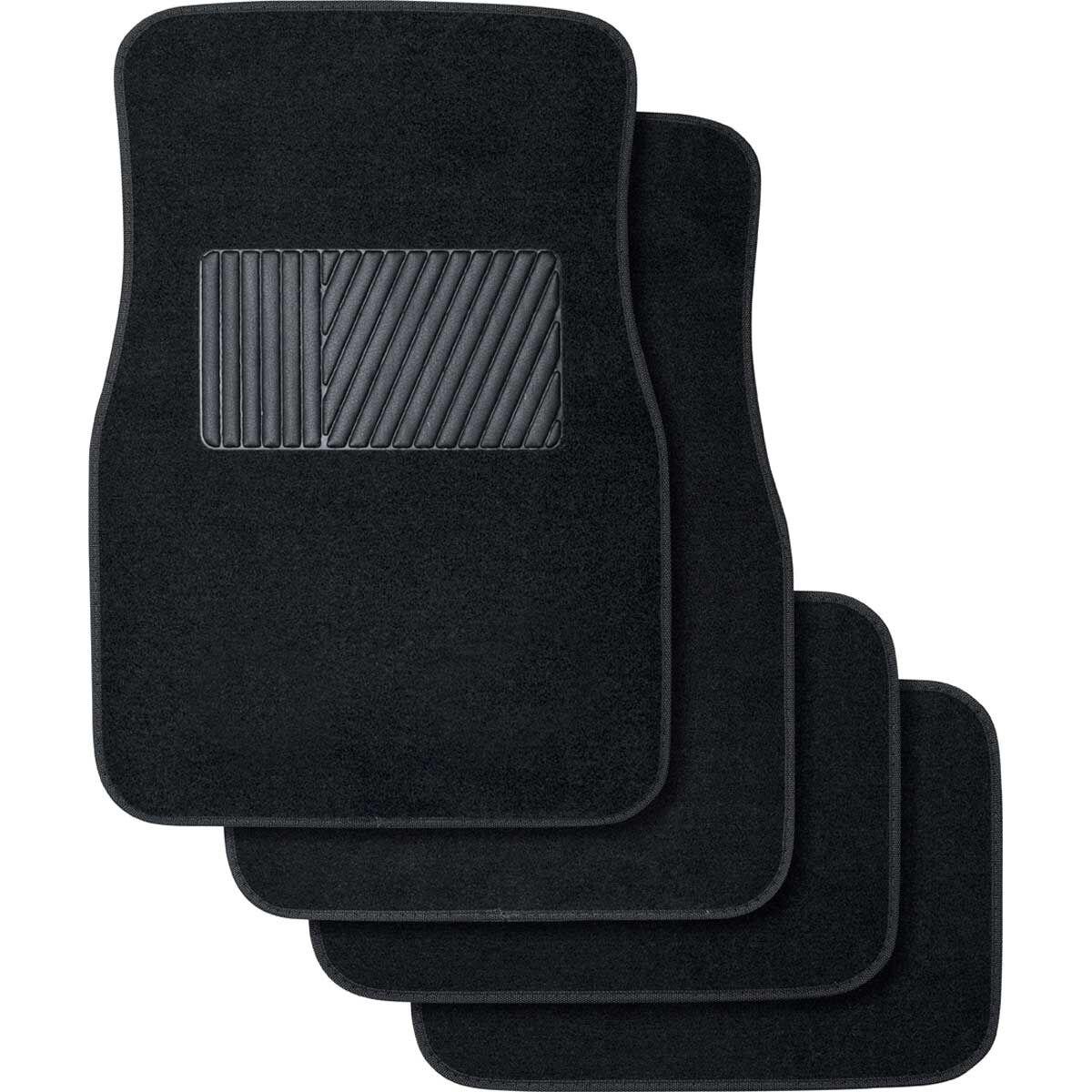 Heavy Duty Carpet For Peugeot Quality Set Of Black Pioneer Mats All Carpet