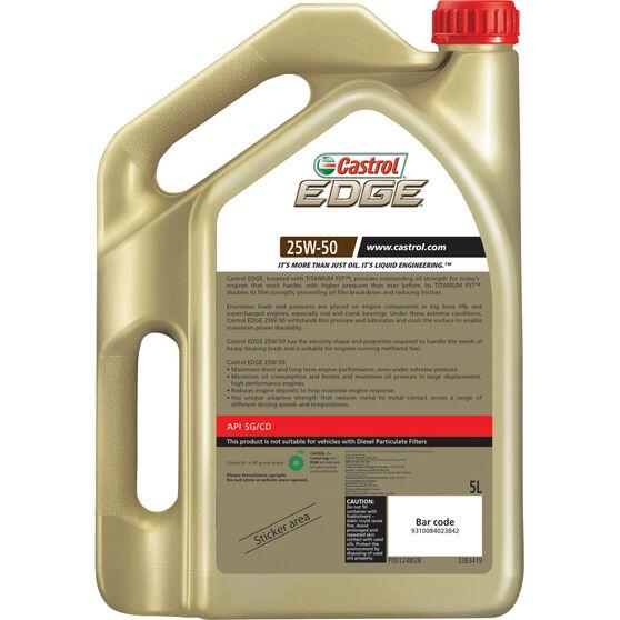 Castrol EDGE Engine Oil - 25W-50, 5 Litre, , scaau_hi-res