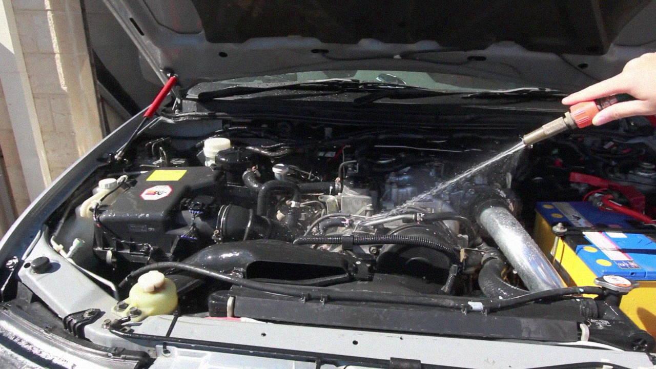Rinse engine bay