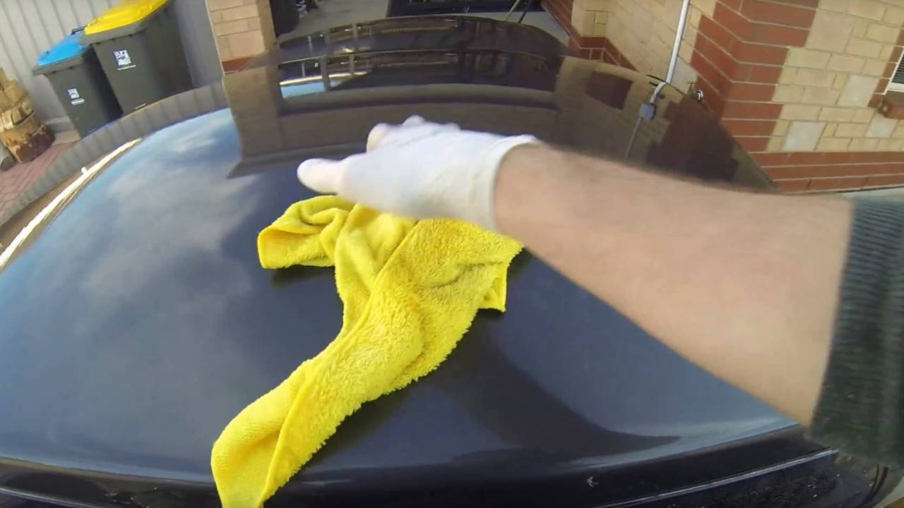 Rinse and dry your paint
