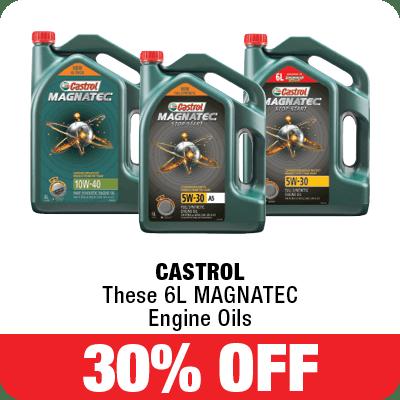 30% off Castrol 6L Magnatec Engine Oils