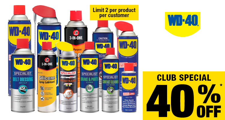 40% Off selected WD-40 products