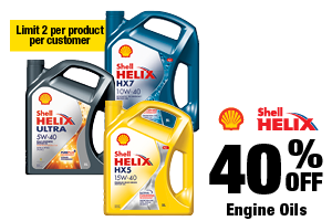40% off Shell Engine Oil