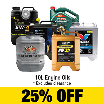 25% Off 10L Engine Oils, Excludes clearance